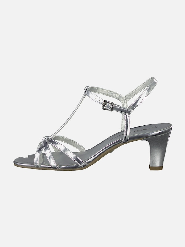 TAMARIS Sandale in silber | ABOUT YOU