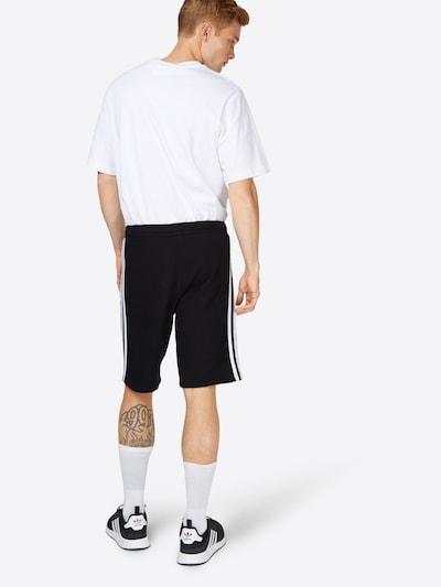 ADIDAS ORIGINALS Shorts in schwarz / weiß: Rückansicht