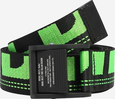 DIESEL Gürtel 'B-MASER' in hellgrün / schwarz, Produktansicht