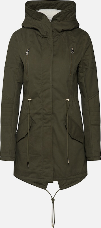 Urban Classics Parka 'Sherpa' in oliv: Frontalansicht