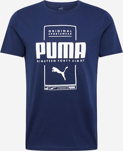 PUMA Functioneel shirt in de kleur Donkerblauw / Wit, Productweergave