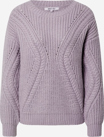 ABOUT YOU Pullover 'Cyra' in Lila