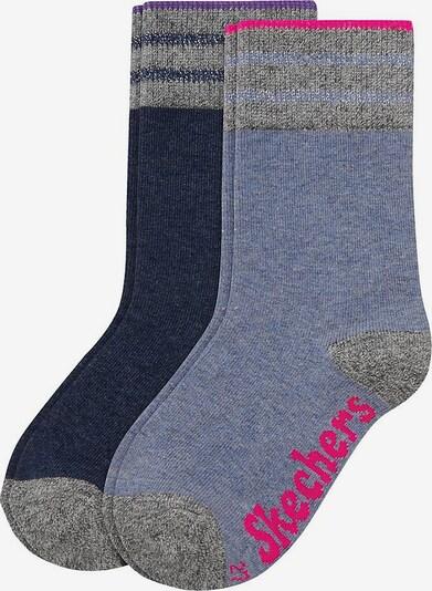 SKECHERS Socken in nachtblau / taubenblau, Produktansicht