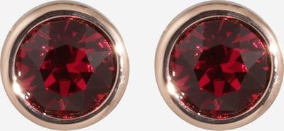 Ted Baker Boucles d'oreilles 'Sinaa' en or rose / rouge foncé, Vue avec produit