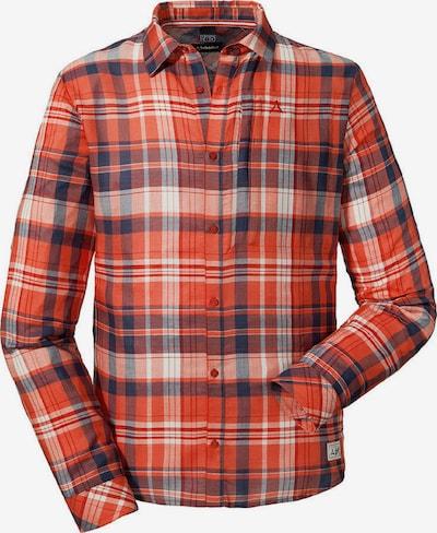 Schöffel Shirt 'Kapstadt' in blau / dunkelorange / orangerot / weiß, Produktansicht