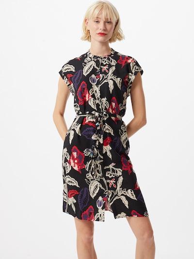 Mavi Kleid in rot / schwarz / weiß: Frontalansicht