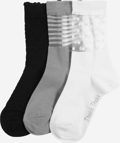 ThokkThokk Socken in grau / schwarz / weiß, Produktansicht