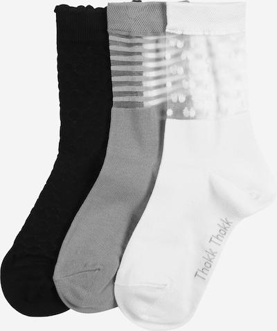 ThokkThokk Chaussettes en bleu / noir / blanc, Vue avec produit