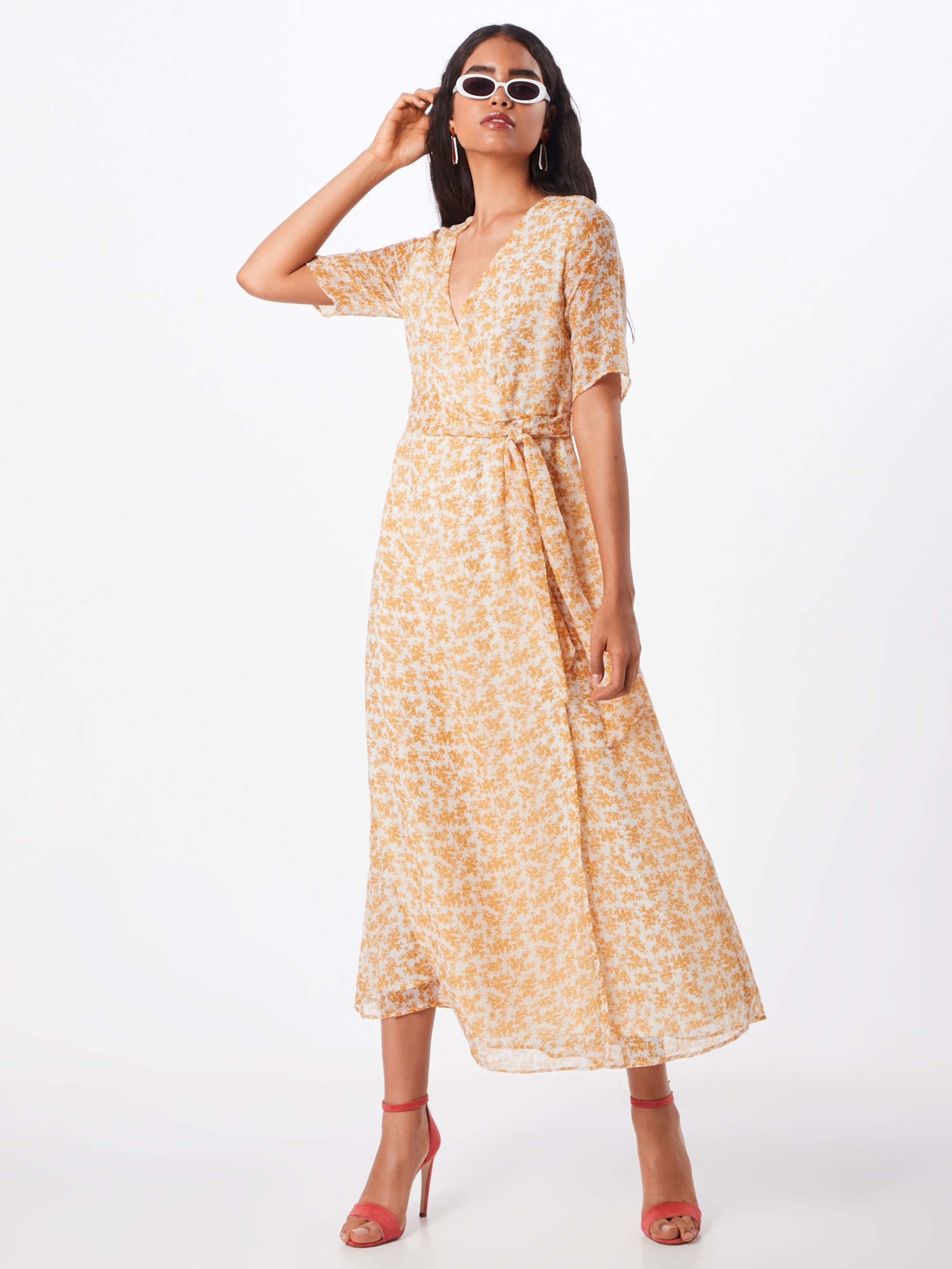 s In Creme Dress Ss Wrap Y a 'yaschloa Ft' Maxikleid KJc1Fl