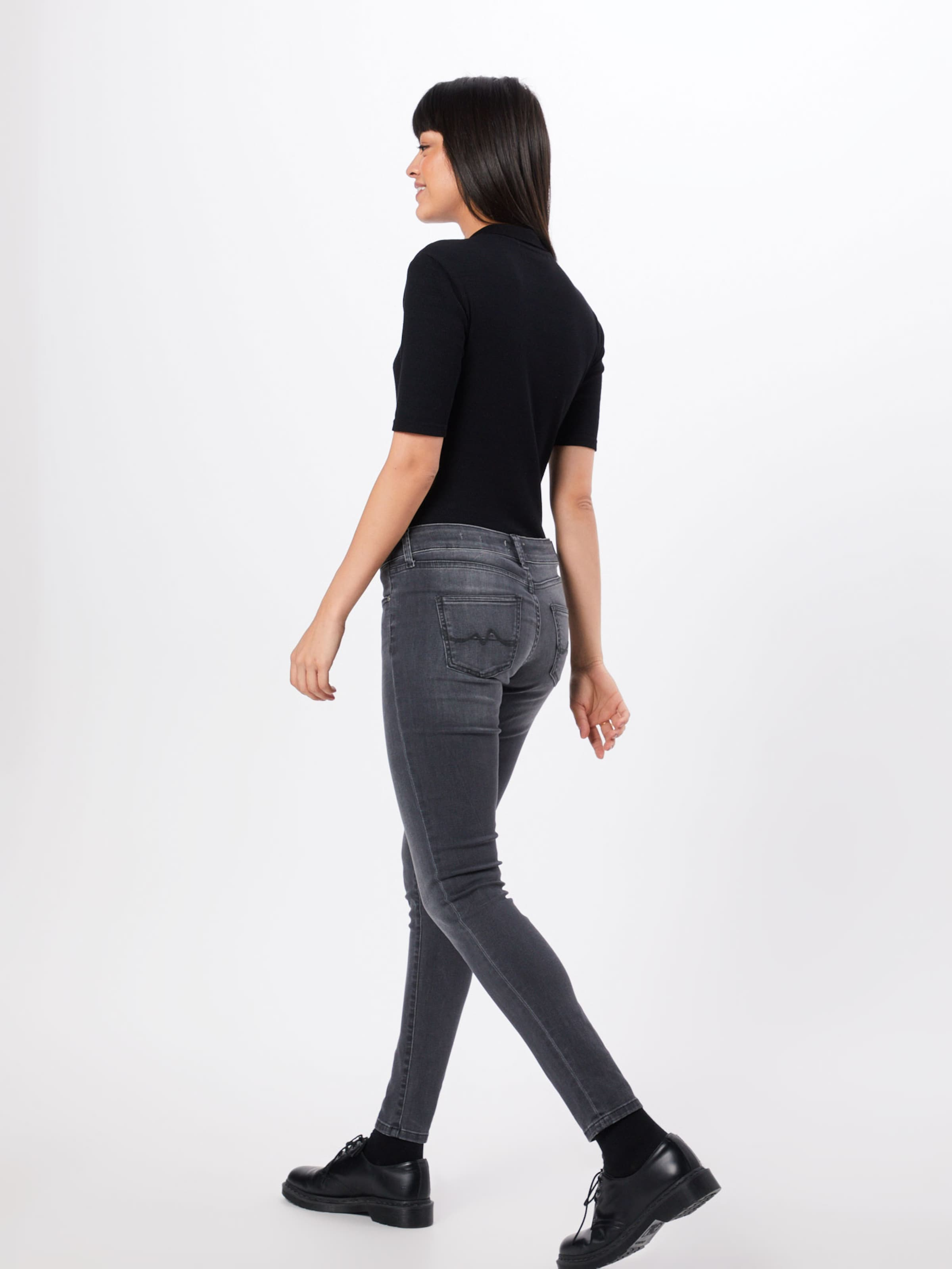 Pepe Jeans 'pixie' Gris Denim En Jean n0v8OmNw