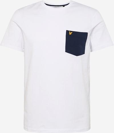 Lyle & Scott T-Shirt 'Contrast Pocket' in navy / weiß, Produktansicht
