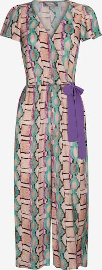 Nicowa Jumpsuit 'WIDES' in türkis / braun / lila / rosa, Produktansicht