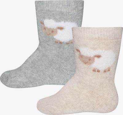 Kojinės iš EWERS , spalva - smėlio / pilka, Prekių apžvalga