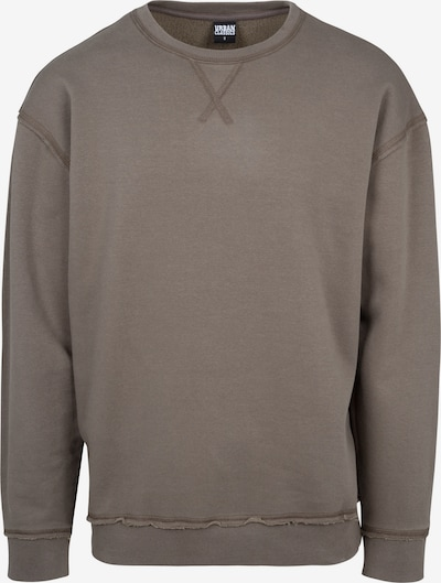 Urban Classics Pullover 'Open Edge Crew' in oliv: Frontalansicht