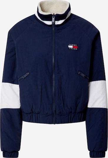 Tommy Jeans Jacke in creme / navy / weiß, Produktansicht