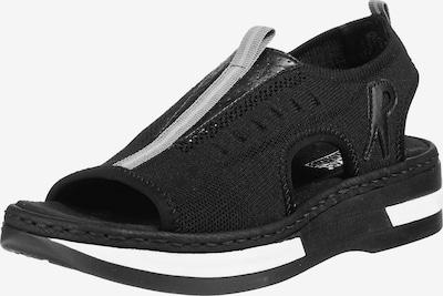 RIEKER Sandaler i lysegrå / sort / hvid, Produktvisning