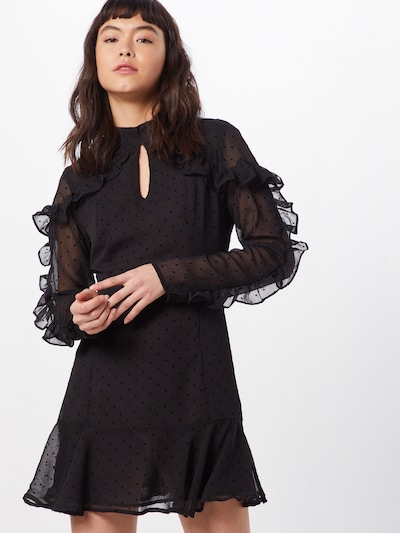 Rochie de seară 'AC2904' GLAMOROUS pe negru: Privire frontală
