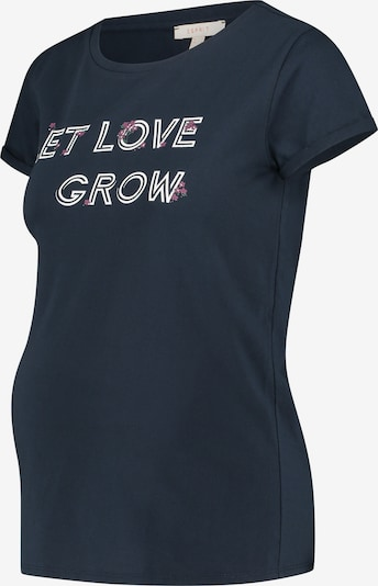 Esprit Maternity Shirt in de kleur Nachtblauw / Rosé / Wit: Vooraanzicht