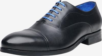 SHOEPASSION Businessschuhe durchgenäht 'No. 5607 BL' in blau / schwarz, Produktansicht