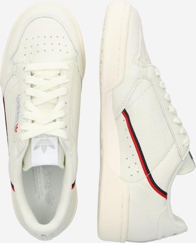 ADIDAS ORIGINALS Baskets basses 'Continental 80' en rouge / noir / blanc cassé: Vue de profil