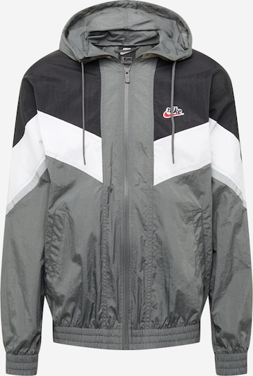 Demisezoninė striukė iš Nike Sportswear , spalva - pilka / juoda / balta, Prekių apžvalga