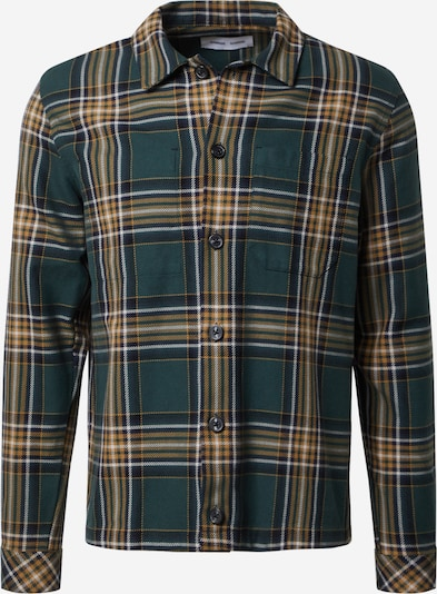 Samsoe Samsoe Hemd 'Ruffo' in gelb / dunkelgrün / weiß, Produktansicht