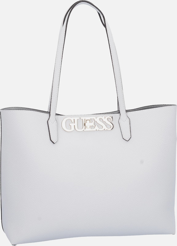 GUESS Shopper 'Uptown Chic Barcelona' in weiß | ABOUT YOU