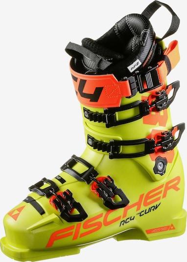 FISCHER Skischuhe 'RC4 Curv 130 Vacuum' in neongelb / mandarine, Produktansicht