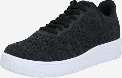 Nike Sportswear Madalad ketsid 'Air Force 1 Flyknit 2.0' must / valge: Eestvaade