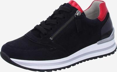 GABOR Sneaker in hellgrau / rot / schwarz / weiß, Produktansicht
