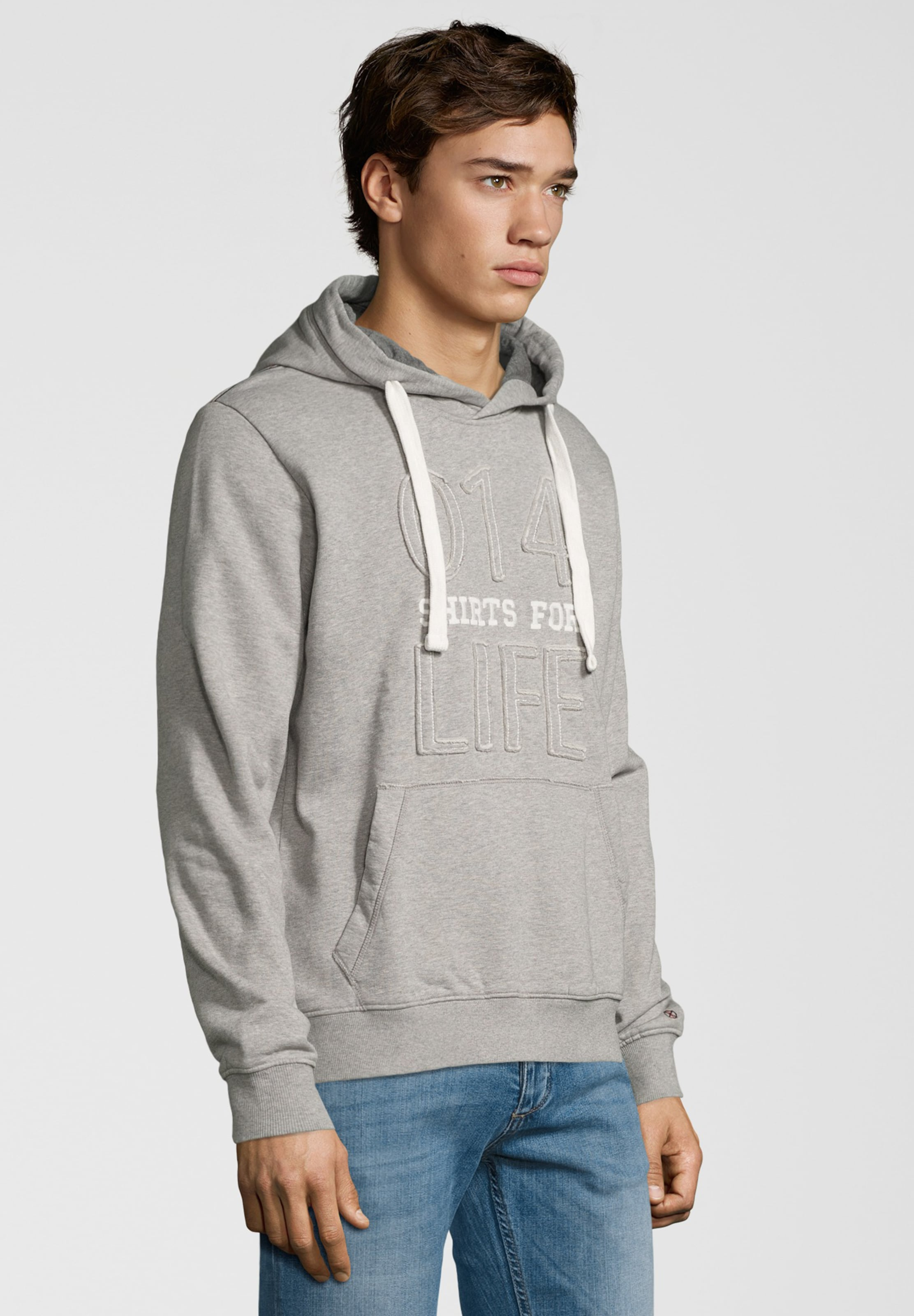 Graumeliert Shirts For Life Hoodie In 'simon' nwNO80PXk