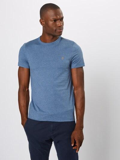 Marškinėliai 'DENNIS SOLID SS TEE' iš FARAH , spalva - tamsiai mėlyna: Vaizdas iš priekio