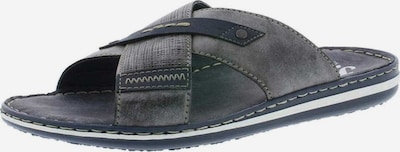 RIEKER Pantoletten in taubenblau / rauchgrau, Produktansicht