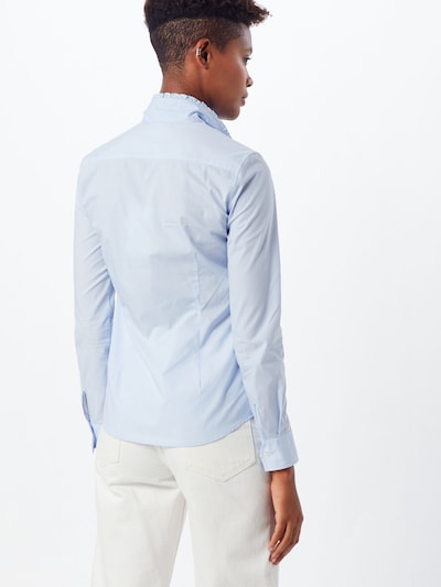 Bluză La Martina pe albastru: Privire spate