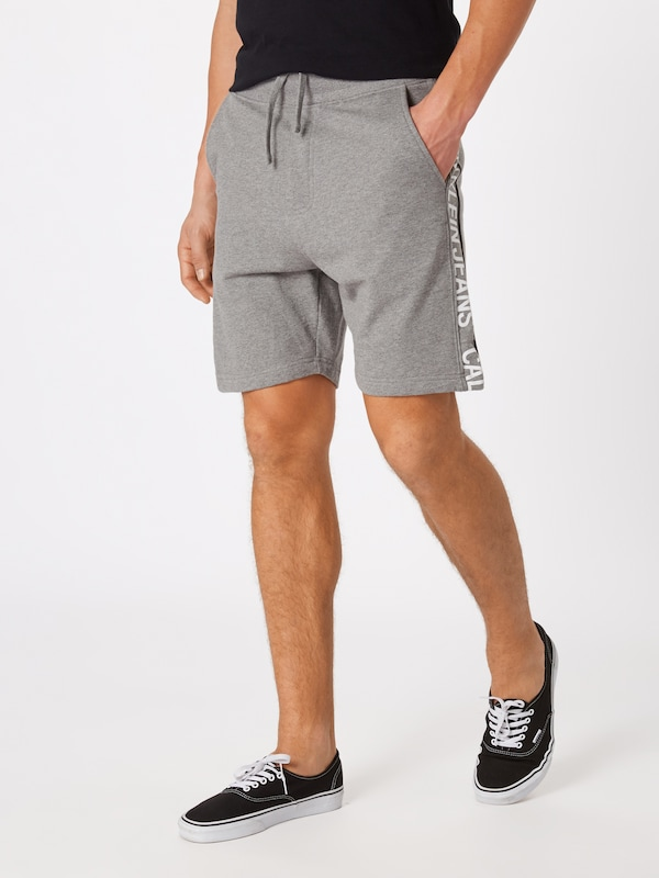Pantalon Klein Institutional Jeans Chiné En 'side Calvin Short' Gris iOPZuwkXT