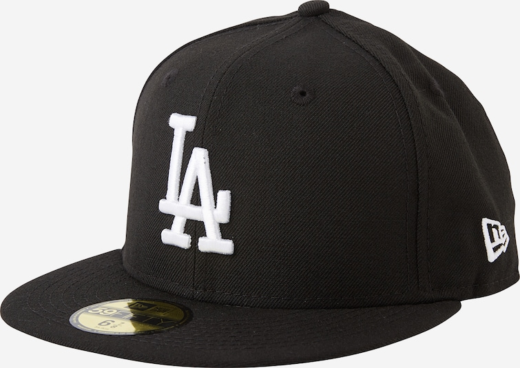 NEW ERA Cap '59FIFTY MLB  Basic Los Angeles' in schwarz / weiß, Produktansicht