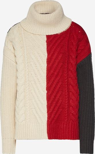 Megztinis 'Weet turtle knit wmn l\s' iš G-Star RAW , spalva - kremo / tamsiai mėlyna / raudona, Prekių apžvalga