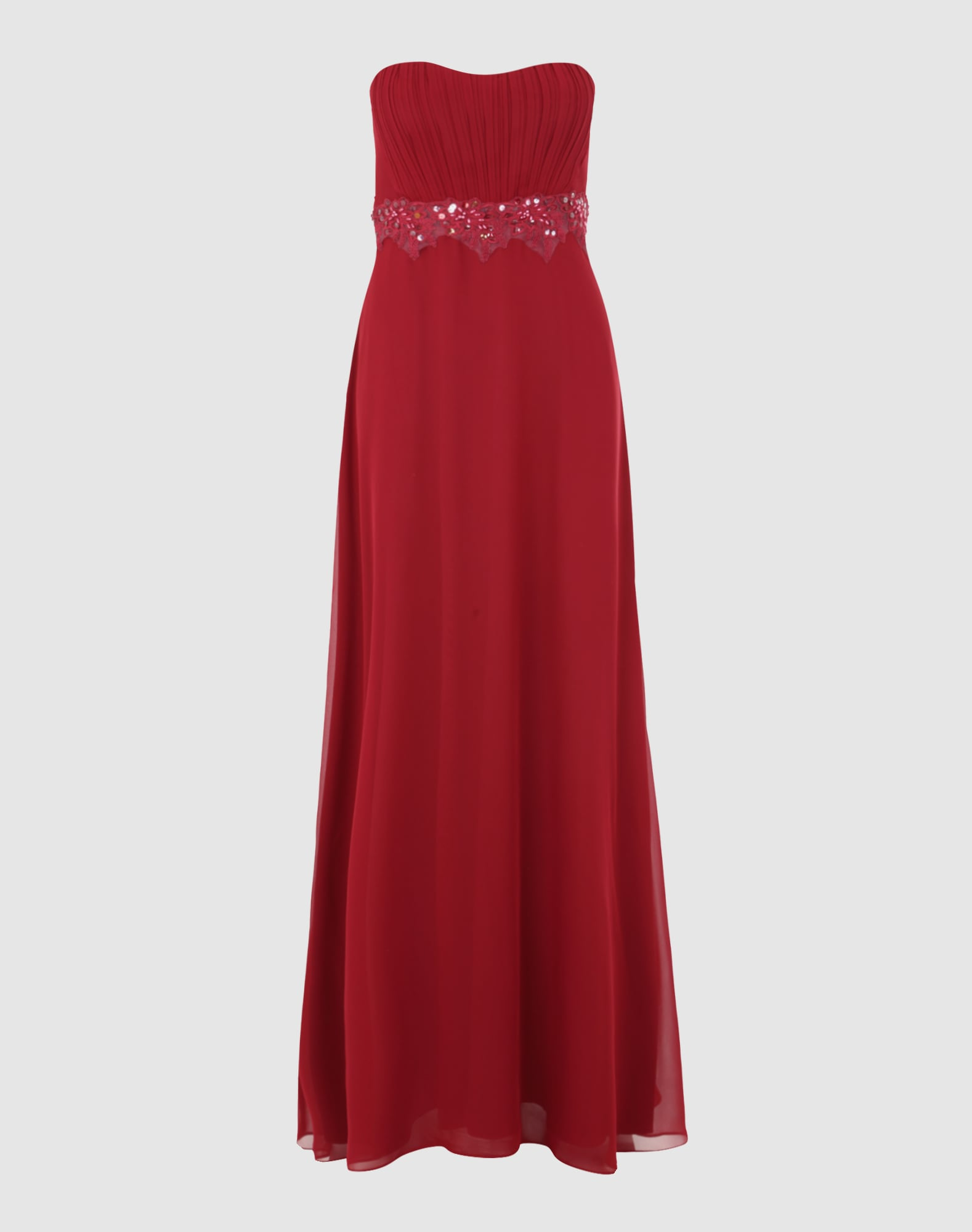 vm vera mont langes abendkleid in rot | about you