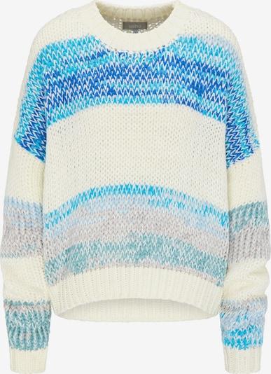 Usha Pullover in blau / aqua / weiß, Produktansicht
