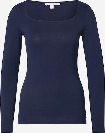 TOM TAILOR DENIM Shirt in dunkelblau / weiß, Produktansicht