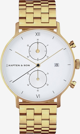Kapten & Son Uhr 'Small Chrono Steel' in gold, Produktansicht
