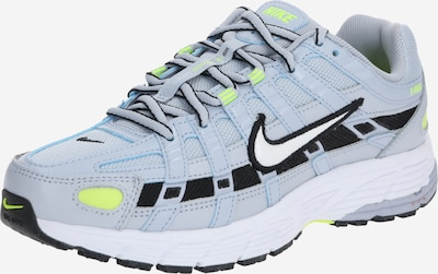 Nike Sportswear Sneakers laag 'P-6000' in de kleur Geel / Lichtgrijs / Zwart: Vooraanzicht