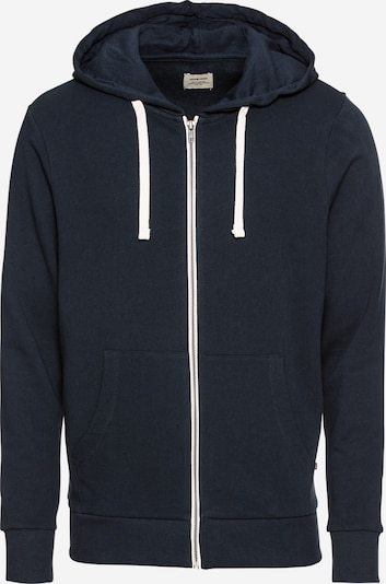 JACK & JONES Sweatvest 'JJEHOLMEN SWEAT ZIP HOOD NOOS' in de kleur Navy, Productweergave