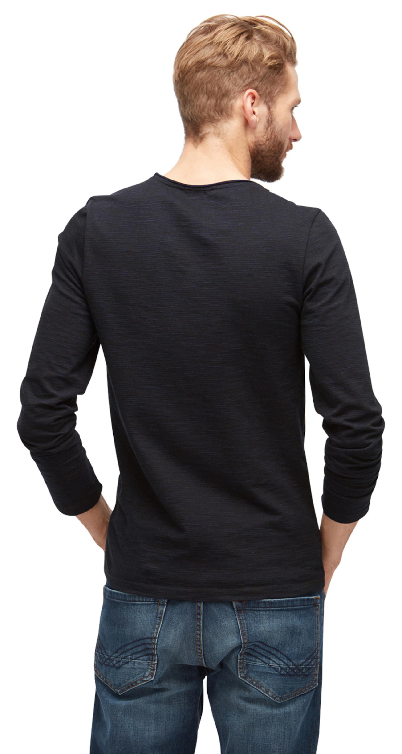 TOM TAILOR T-Shirt gestreiftes Langarmshirt Countdown-Paket Günstig Online Billig Größte Lieferant Exew9MTuCk