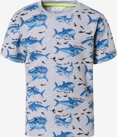 myToys-COLLECTION T-Shirt in blau / graumeliert / schwarz, Produktansicht