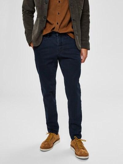 SELECTED HOMME Pantalon chino en bleu nuit, Vue avec modèle