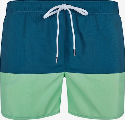 Skiny Badeshorts im lässigen Color-Blocking-Design in blau / grün, Produktansicht