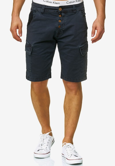 INDICODE JEANS Shorts 'Hedworth' in dunkelblau: Frontalansicht