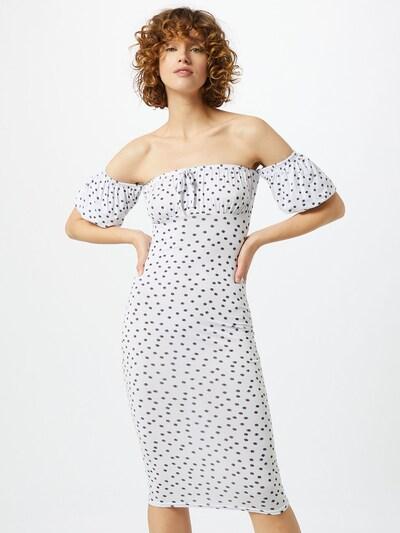 Missguided Kleid 'Polka' in weiß, Modelansicht