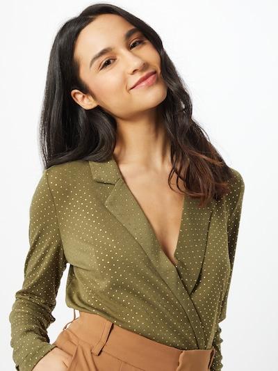 VERO MODA Body 'LINA' in gold / oliv, Modelansicht